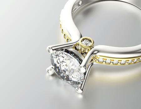 Golden Ring with Diamond  Jewelry background Stok Fotoğraf