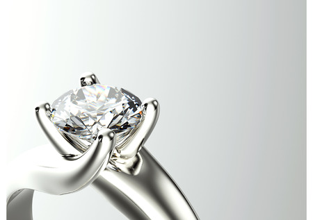 Wedding Ring with diamond. Jewelry backgroundw