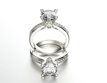 Wedding  Ring with Diamond.
