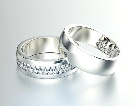 wedding accessories: Wedding Ring with Diamond. Stock Photo