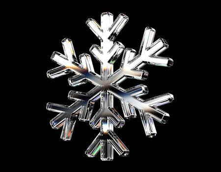 Diamond snowflake. photo