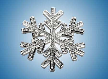 flawless: Diamond snowflake. Christmas background Stock Photo