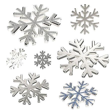 Diamond snowflake. Christmas background photo