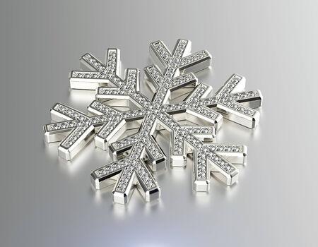 fiambres: Diamante copo de nieve. Fondo de la Navidad
