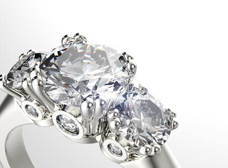 bodas de plata: Anillo de oro con diamante. Fondo joyería Foto de archivo
