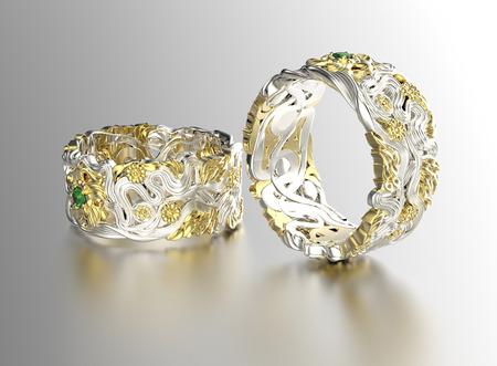 diamante: Anillo de oro con diamante. Fondo joyer�a. D�a de San Valent�n