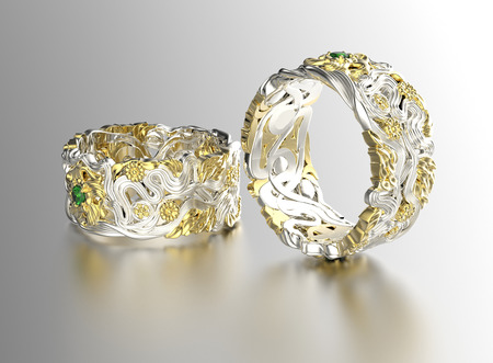 diamond jewelry: Golden Ring with Diamond. Jewelry background. Valentine day