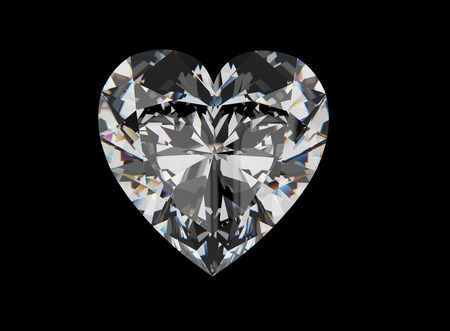 Diamant-Herz. Schmuck Hintergrund Standard-Bild