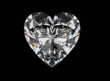 Diamond Heart . Jewelry background Stock Photo