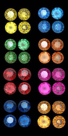fake diamond: Round Gemstone isolated on white background. Gemstone