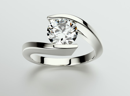 Ring with Diamond. Jewelry background. Valentine and wedding day