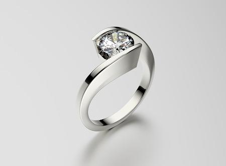 bodas de plata: Anillo con diamante. Fondo joyería. Valentín y día de la boda