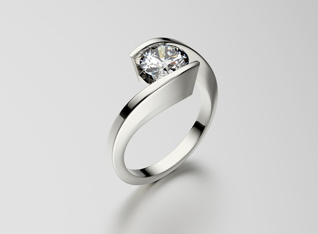 Ring with Diamond. Jewelry background. Valentine and wedding day Reklamní fotografie - 37232696
