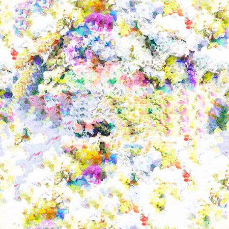 multilayer: Abstract summer flower backkground. seamless texture