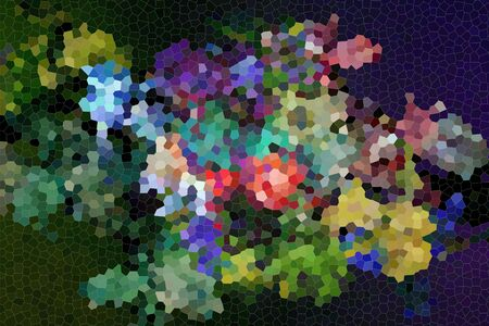 violett: bouquet of  iris flowers isolated on dark violett  background