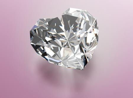 diamond shape: Diamond heart shape