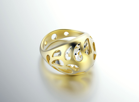 egg shape: Ring in egg shape with diamond. Jewelry background