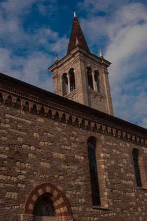 The bell tower is a tower-like architectural structure, usually adjacent to a church
