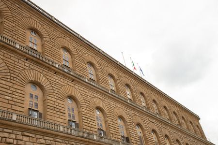 Palazzo Pitti, The old palace of Medici family at Florence, Italy Editorial