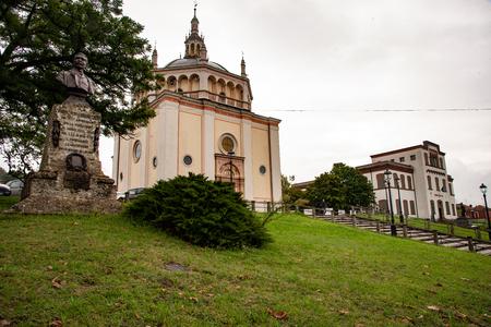 church, school, monument to Crespi of Crespi d'Adda, in Italy, is a copy of the Renaissance church (Bramante school) in Busto Arsizio. In this perfect little world Archivio Fotografico