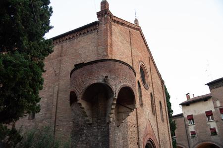 The Basilica di Santo Stefano, Bologna, Italy, also known as Seven Churches, is the most peculiar in Bologna. Banco de Imagens