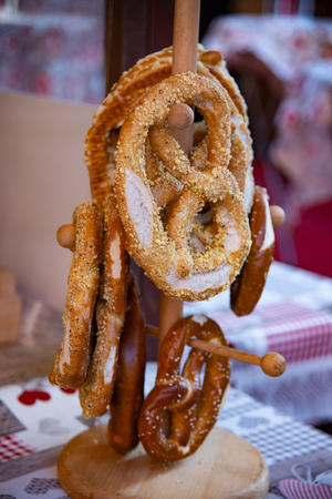 Breze is a true icon of German gastronomy; it is a soft bread. The result is a ring with knotted high sides. As a garnish, coarse salt and sesame seeds are used.