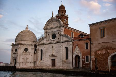 Church of San Michele in Isola also known as San Michele di Murano.Cemetery in Venice, Italy.