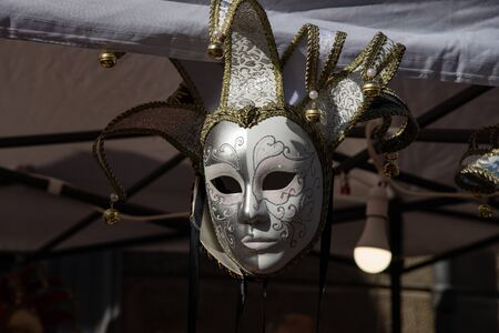 Typical carnival masks, Vintage. Halloween party mask. For masked parties, Cosplay, Valentine's Day. Stock fotó - 132518174