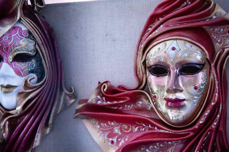 Large carnival mask depicting a woman. Stock fotó - 132518263