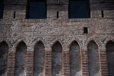 The fortress of Cento, Ferrara, Italy, is a defensive medieval fortification.