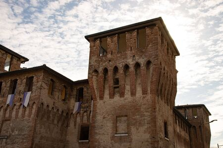The fortress of Cento, Ferrara, Italy, is a defensive medieval fortification. View of the massive keep. Stock fotó - 132519135