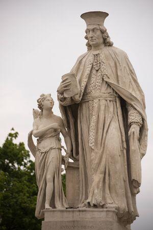 Statue of Antonio Mor who was an Italian architect. Prato della Valle, Padua, Italy.