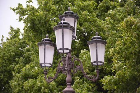 Street lamp in Padua, Italy. Public lighting, day photography. Stock fotó