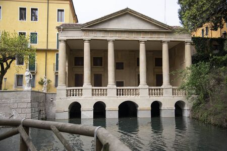 The Valmarana loggia in Vicenza, Italy dated 1592 attributed to Palladio. Located inside the Salvi Garden, on the waters of Seriola. Sajtókép