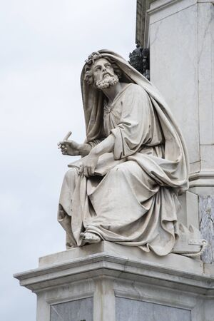The prophet Isaiah in Piazza Colonna of the Immaculate Conception, Rome Italy.