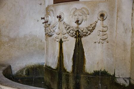 Detail of the fountain of San Giovanni on Corso Goffredo Mameli in Brescia, Italy, year 1826 Stock fotó
