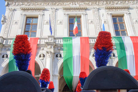 Day of the Unification of Italy and the armed forces, 4 November, piazza della Loggia, Brescia Italy. Carabinieri