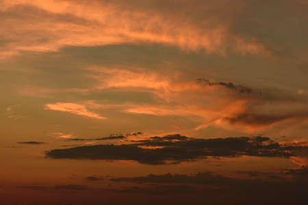 Fiery red sky at sunset. At Lake Garda, Italy.