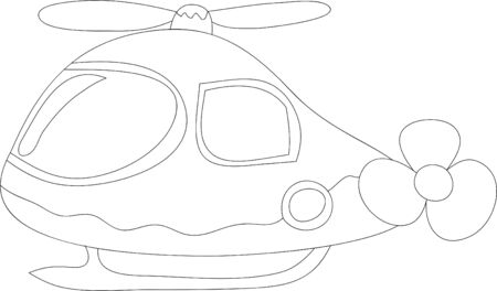 Helicopter black and white only lines Imagens