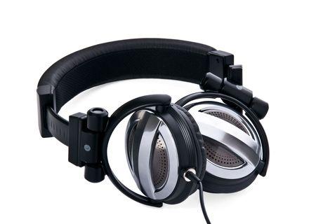 Studio ear-phones close up horizontal Stock Photo - 4090516