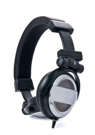 Studio ear-phones close-up vertical Stock Photo - 4090517