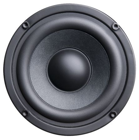 Black bass loudspeaker isolated on white background Stock Photo - 5045872