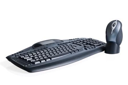 Gaiming black media keyboard and mouse Stock Photo - 5045804