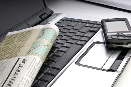 Werkplaats uit bureau werkende stijltechnologieën van vrijheidsclose-up Stockfoto