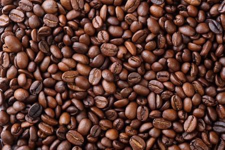Aromatic coffee beans in the form of natural background 스톡 콘텐츠