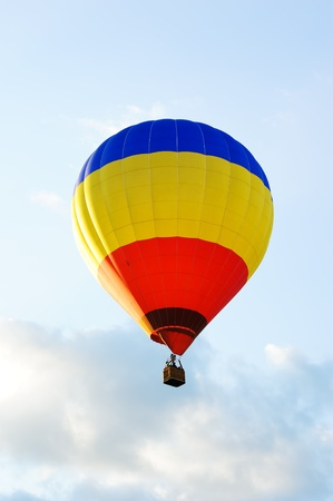 colorful hot air balloon against a white background photo