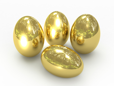 gold eggs: Gold eggs Stock Photo
