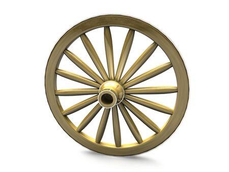 cartwheel: Wooden wheel