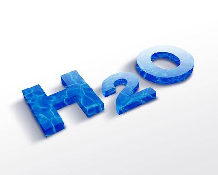 h2o: H2O symbol Stock Photo