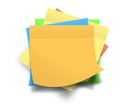 memo pad: Colored sticky notes Stock Photo